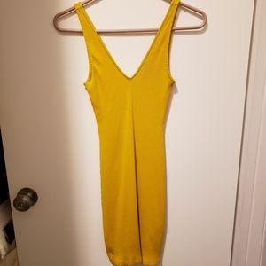 Express ribbed, bodycon tank dress. XS